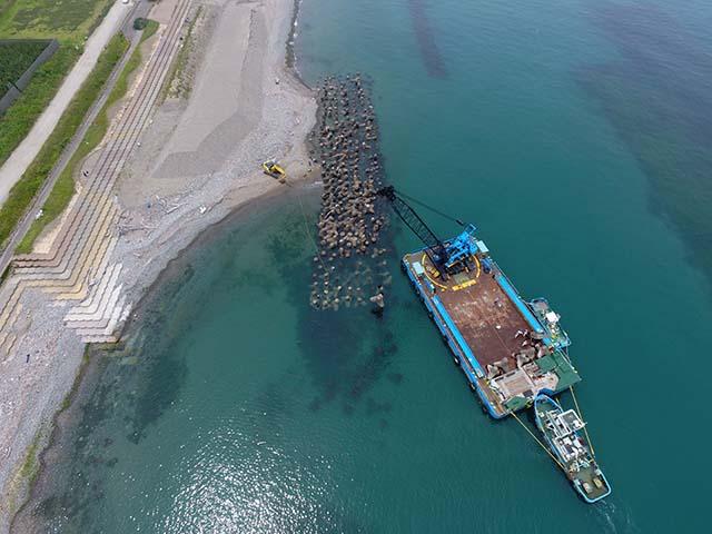 美川離岸堤補修工事